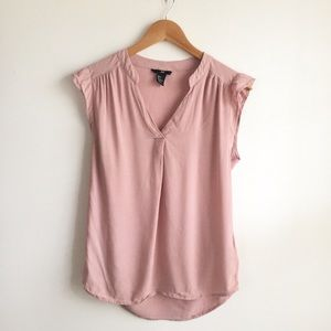 H&M Mauve Sleeveless Tunic Top Size 2